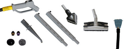 Radames 10bar accessory kit contains a selection of tools to better utilise the power of the machine