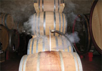 pressurised steam vapour is an effective way to completely sanitise wine barrels, without the use of chemicals