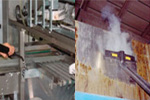 food processing plant cleaning equipment, to decontaminate and sanitise without chemicals