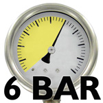 8 or 6 bar pressure- depending on the machine