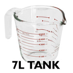Water tank with 7 litre capacity