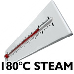 steam generated at 180 degrees for wet-dry vacuum cleaning systems