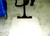 Use the Jetvac, to clean floors within a cheese production facility