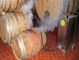 industrial, steam powered cleaning machinery, for use within wineries and cellars