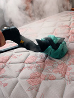 Bed Bug Removal with superheated dry steam on Mattress