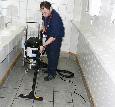 bathroom and toilet cleaning equipment for use throughout busy venues